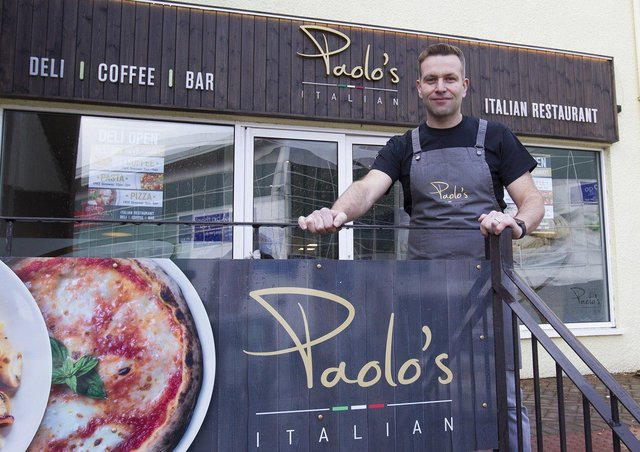 Paolo Crolla at Paolo's Italian in Galashiels.