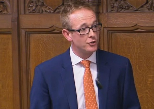 John Lamont MP in the House of Commons.