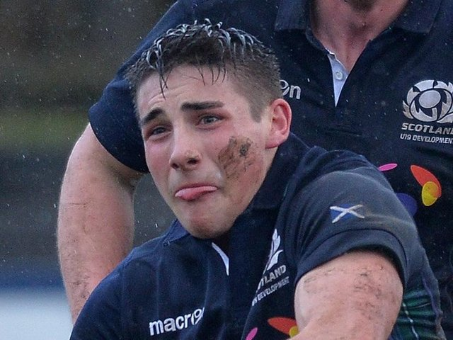 Charlie Shiel (pictured in action for Scotland U19) came off the bench to score a crucial try for Edinburgh against Glasgow