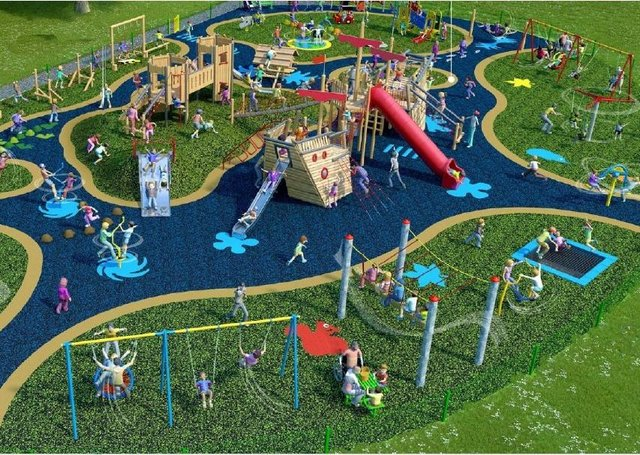 How the new playpark lined up for Peebles will look.