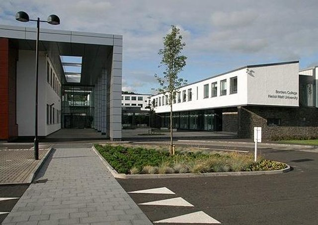 The campus at Netherdale in Galashiels, shared by Heriot-Watt University and Borders College.