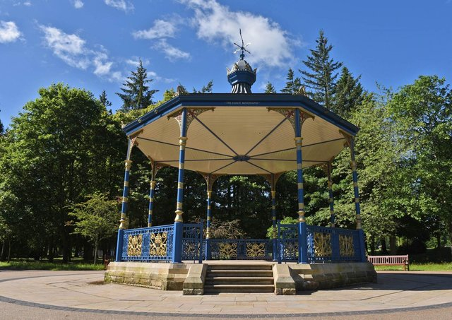 The Elliot Bandstand in Wilton Park Lodge, Hawick.