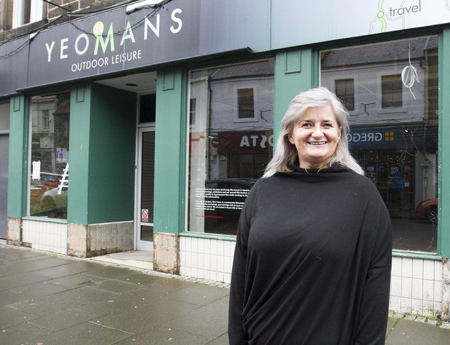 Angelena Johnson outside the former Yeomans store. (PIC: BILL McBURNIE)