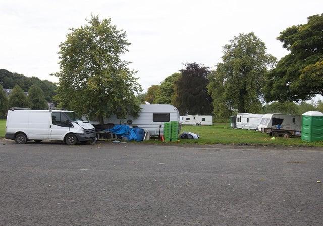 Victoria Park caravan site at Selkirk.