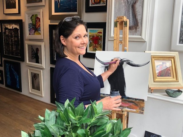 Featured artist Elaine Johnstone is supporting the event.
