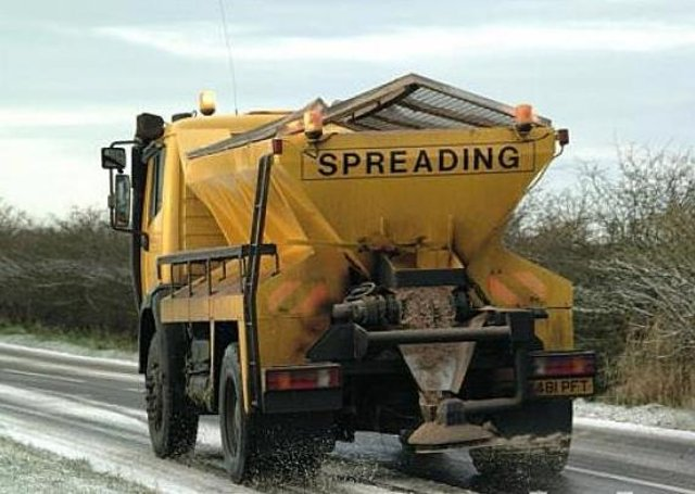 Scottish Borders Council says gritters are out in force.