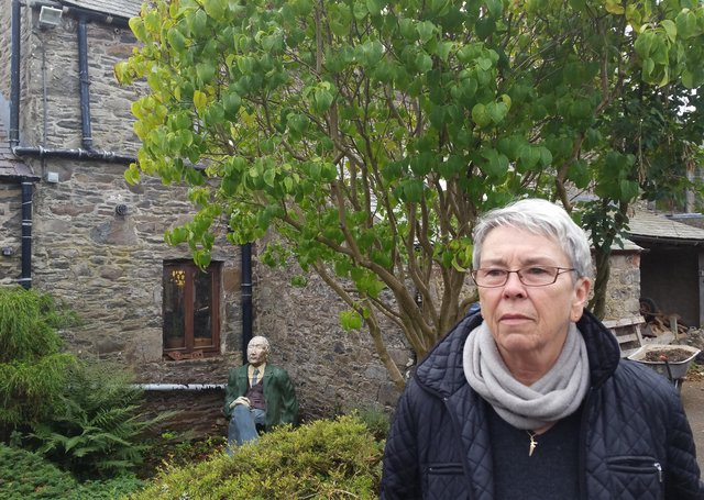 Tim Stead's widow Maggy outside the Steading in Blainsle.