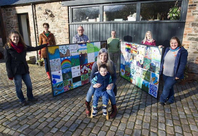 Ray Theedam-Parry, Selkirk, Nicola Hume, Greenlaw, Andy Beaumont, Lauder, Joy Parker, Selkirk, Lisa Ainslie, Galashiels, Lara Armitage, Earlston and Front Rachel and Hamish Lyall, Selkirk (PIC: BILL McBURNIE)
