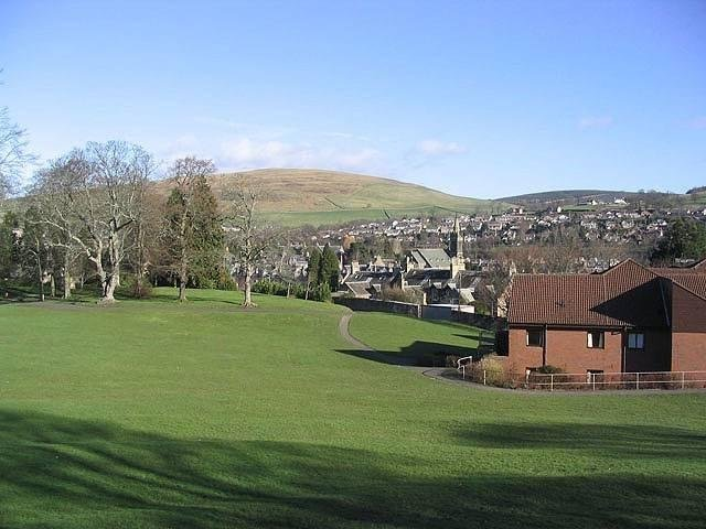 The site of the proposed campus in Scott Park, Galashiels.