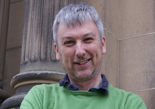 Playwright Tom Murray, facilitator of the Eyemouth Library Group.
