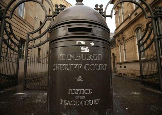 Edinburgh Sheriff Court.