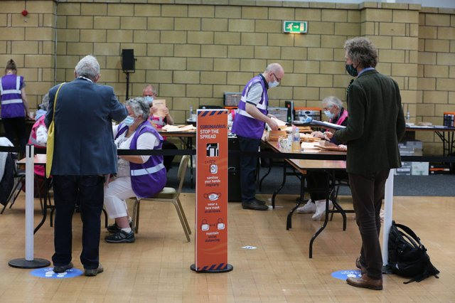 Countiing is under way in the Midlothian South, Tweeddale and Lauderdale constituency, at Springwood Park, Kelso.