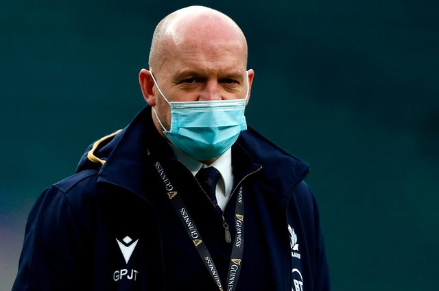 Scotland head coach Gregor Townsend is awaiting confirmation of players' availability for his side's postponed Six Nations game away to France. (Photo by Adrian Dennis/AFP via Getty Images)