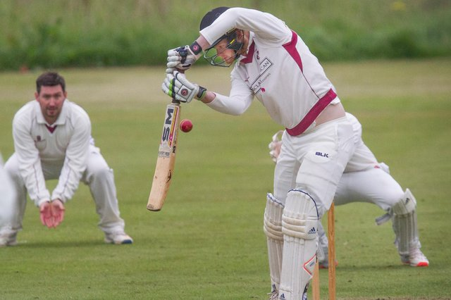 Gala batsman Finlay Rutherford in action (picture by Bill McBurnie)