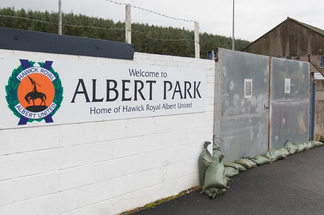 The gates at Hawick Royal Albert United's Albert Park home ground look set to remain locked for a while yet (Photo: Bill McBurnie)
