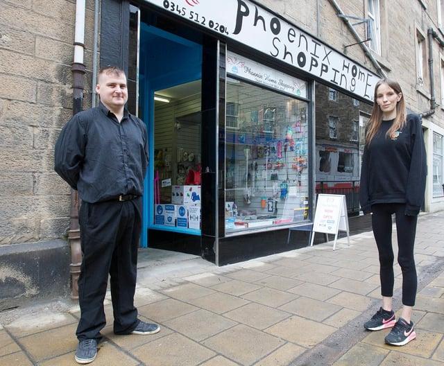David Thomson, Phoenix Home shopping and Megan Donaldson, Personalized Printing. (Photo: BILL McBURNIE)