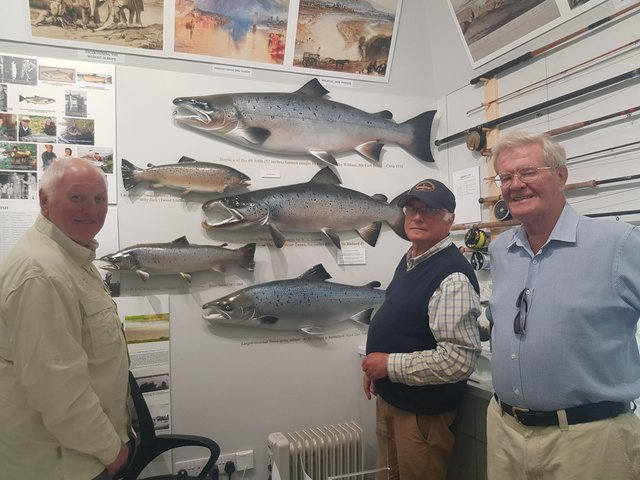 Curator Ronnie Glass, chairman Bill Quarry and trustee Norrie Kerr at the fishing museum in Kelso.