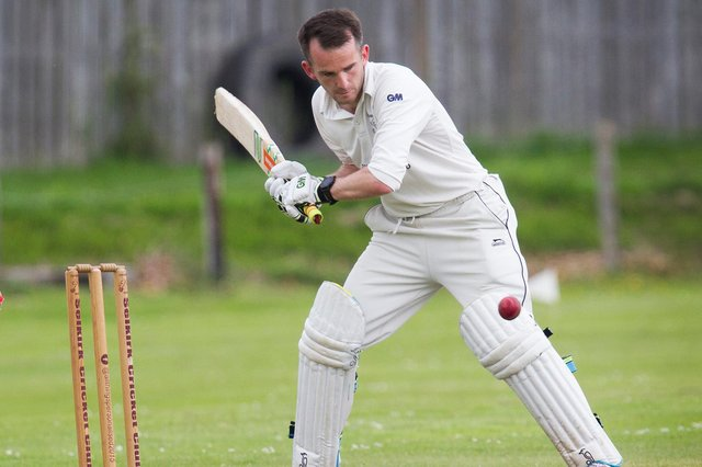 Rory Banks wields the bat for Selkirk (picture by Bill McBurnie)