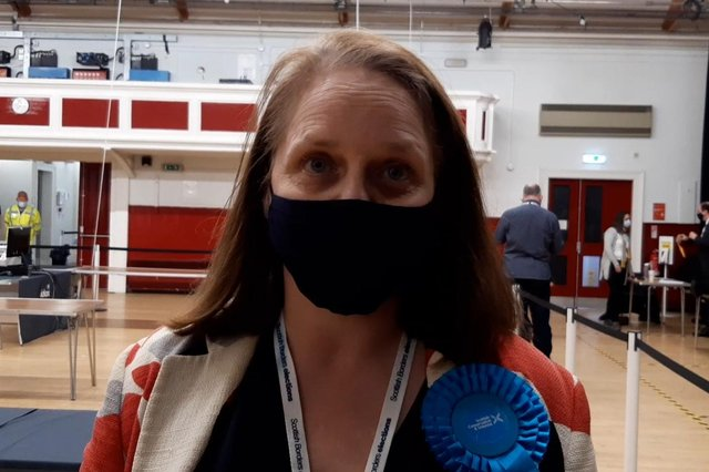 Jenny Linehan, who won the by-election for the Leaderdale and Melrose council seat for the Scottish Conservatives.