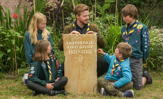 Jack Lowden chats with scouts in Lauder. (Photo: Phil Wilkinson)