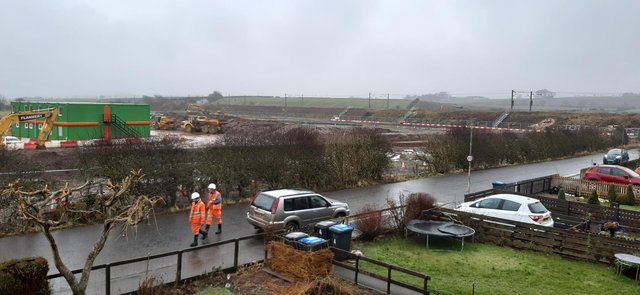 Preparatory work begins on the new Reston Station.