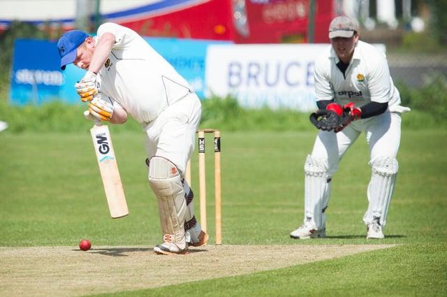 St Boswells' batsman Stephen Broom