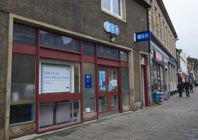 The former TSB Bank at 78 High Street in Peebles.