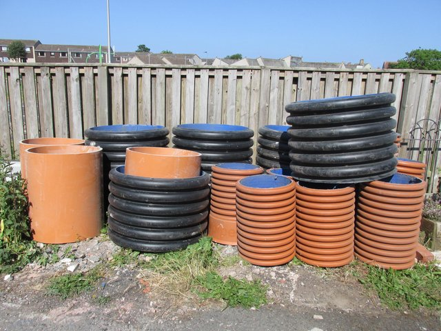 The leftover pipe ends are being turned into planters in Eyemouth and Duns.