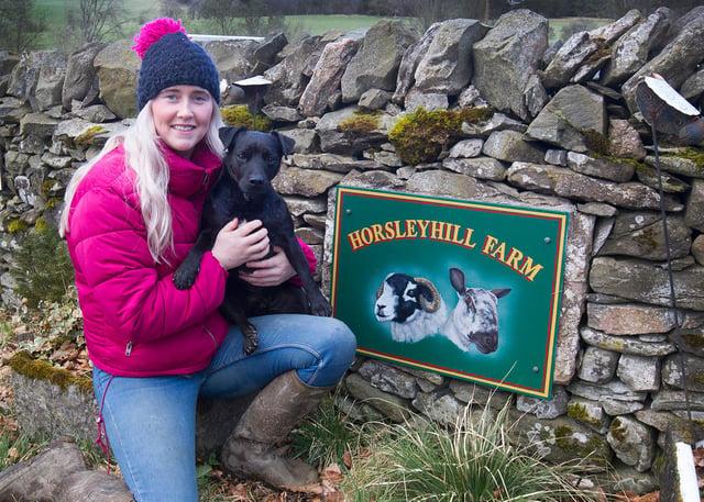 Zoe Hall at her Horsleyhill Farm outside Hawick. (Photo: BILL McBURNIE)