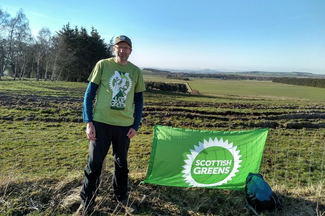 Tim Clancey on his fundraising walk.