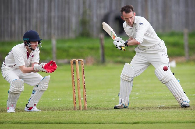 Rory Banks wields the bat for Selkirk