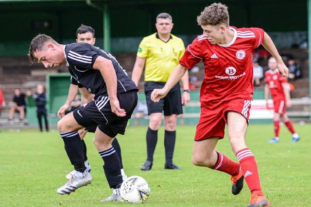 Peebles Rovers going down 3-0 at home to Dalkeith Thistle on Saturday (Photo: Kenny and Joshua Holt)