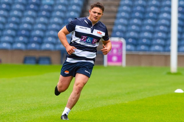 Patrick Harrison during an Edinburgh Rugby training session at the city's BT Murrayfield (Photo: Scottish Rugby/SNS Group)