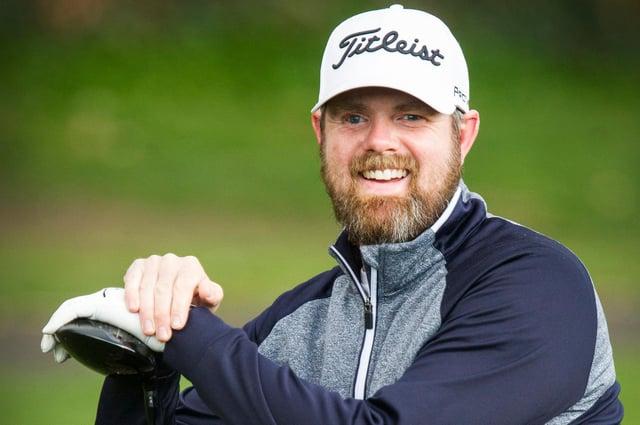 Jedburgh's Rob Reid, winner of the latest winter league at Minto Golf Club (Photo: Bill McBurnie)