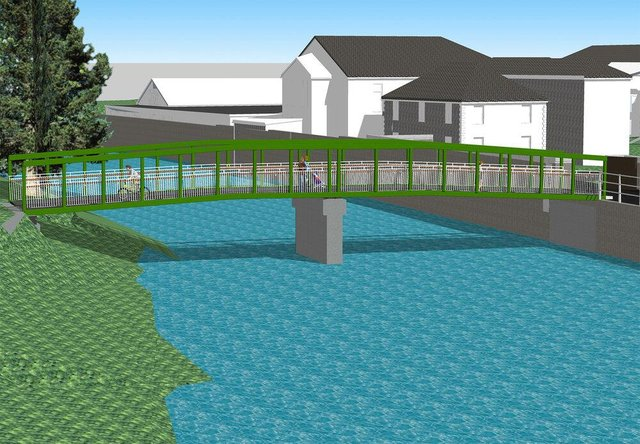 How the three new footbridges will look.
