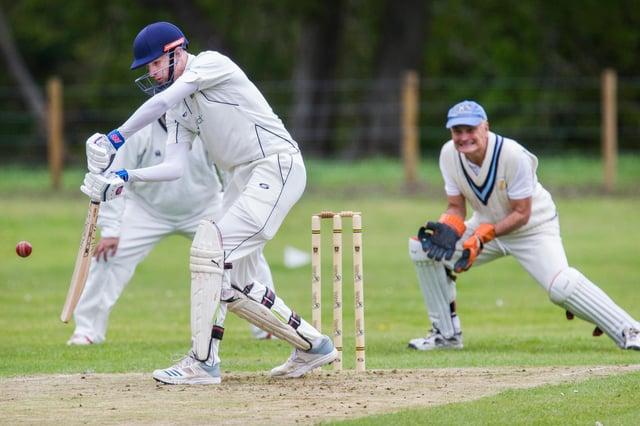 Left-handed batsman Cobus Huisamer in action for Hawick & Wilton.