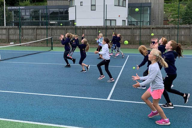 A group tennis session in Hawick