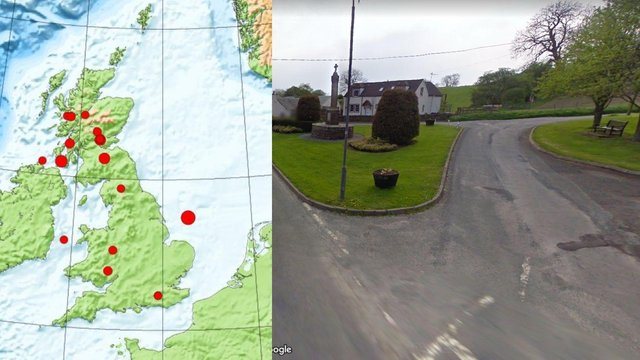 The earthquake was recorded in Skirling this morning.