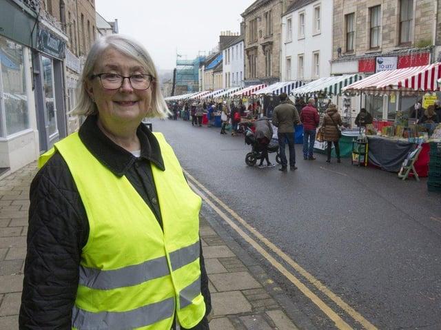 Georgiana Craster pictured at the last market in November last year. (Photo: BILL McBURNIE)