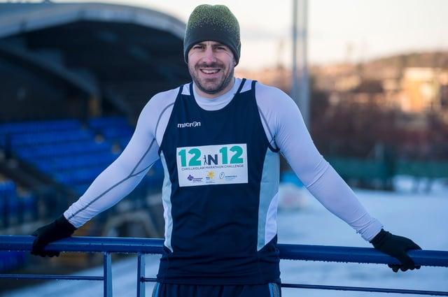 01/01/21 - Boroughmuir - Edinburgh  12/12 Challenge with Chris Laidlaw as he attempts to complete 12 marathons in 12 months     Photo credit should read: © Craig Watson   Craig Watson,  craigwatsonpix@icloud.com 07479748060 www.craigwatson.co.uk