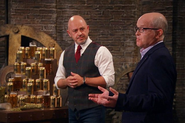 Jason Clarke and Charlie Craig make their pitch in the new BBC One series of Dragons' Den.