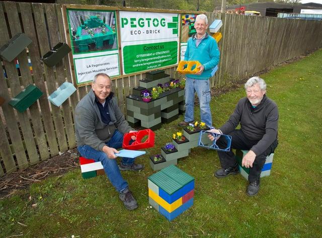 Charlie Richardson, Andrew Napier and Larry Smith in Pegtog, Jedburgh.  (Photo: BILL McBURNIE)