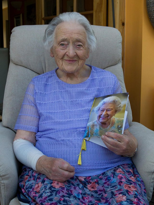 Nancy Kennedy, from Queens Court, Jedburgh, celebrated her 100th birthday on Tuesday, June 15. (Photo: BILL McBURNIE)