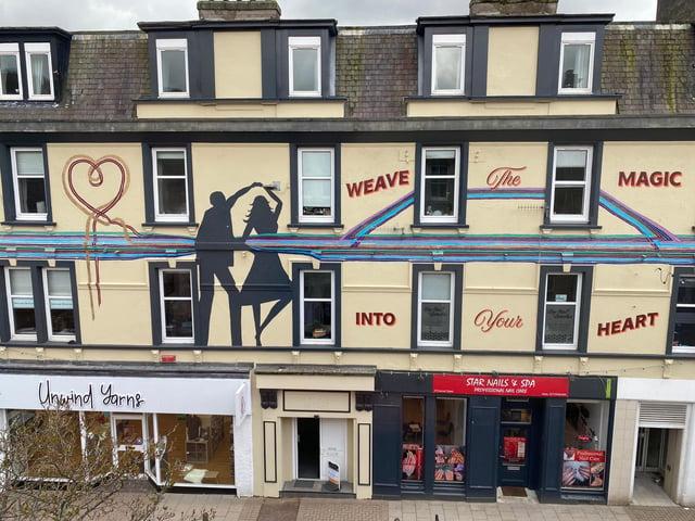 The Romance of Textiles Mural, Channel House, Galashiels. Photo: Debbie Paterson