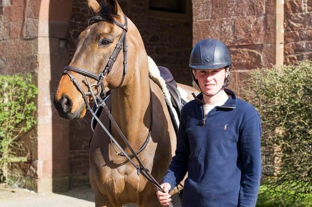Isaac Amos and his eventing horse Sugar Sensation (Photo: Bill McBurnie)