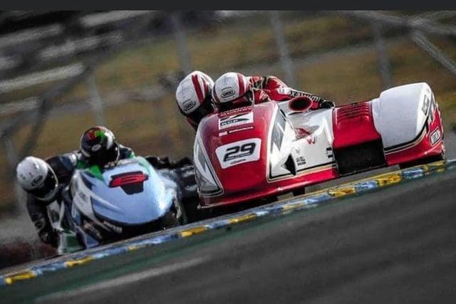 Team Kershaw members Steve Kershaw and Ryan Charlwood, right, do their best in Le Mans.