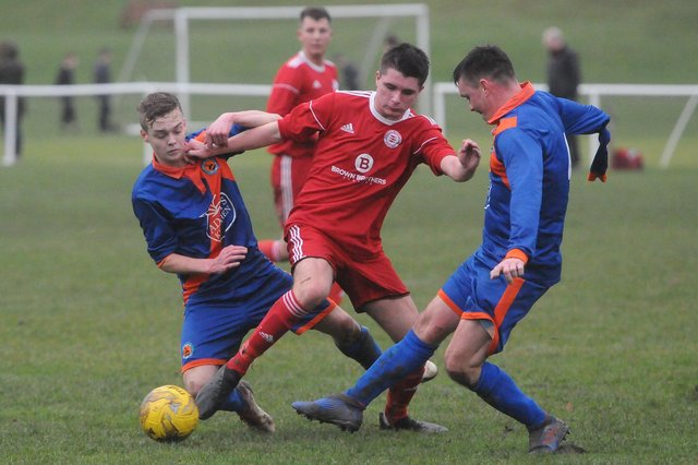 Hawick Royal Albert United and Peebles Rovers playing each other last year (Photo: Bill McBurnie)