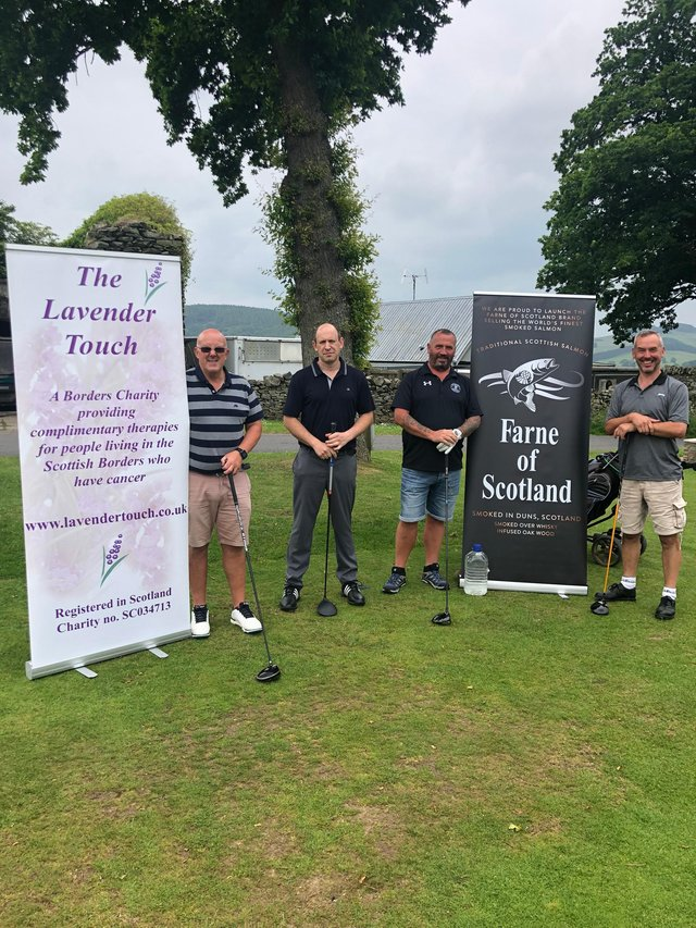 The winning team of Scott Robertson, Stuart Yeomans, Colin Armstrong and Keith Moffat