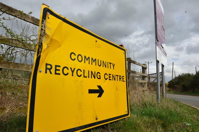 The Borders recycling centres, such as this one in Langlee, will be open to 7pm one day a week.