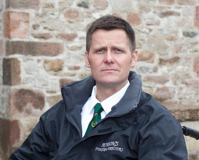 Paul Robson, Hawick funeral director. (Photo: BILL McBURNIE)